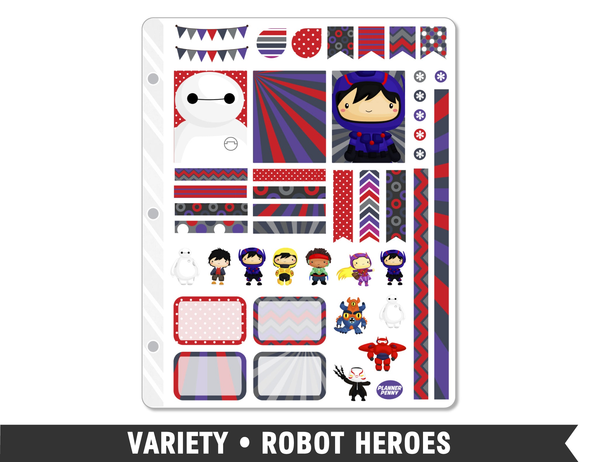 Variety • Robot Heroes Weekly Spread Planner Stickers