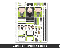 Variety • Spooky Family Weekly Spread Planner Stickers