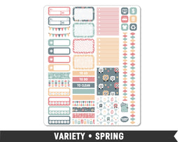 Variety • Spring Weekly Spread Planner Stickers