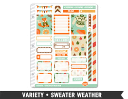 Variety • Sweater Weather Weekly Spread Planner Stickers