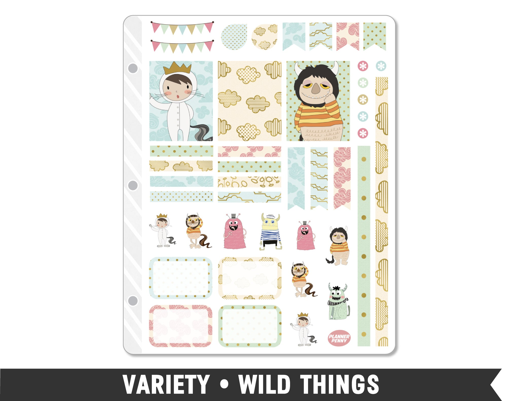 Variety • Wild Things Weekly Spread Planner Stickers