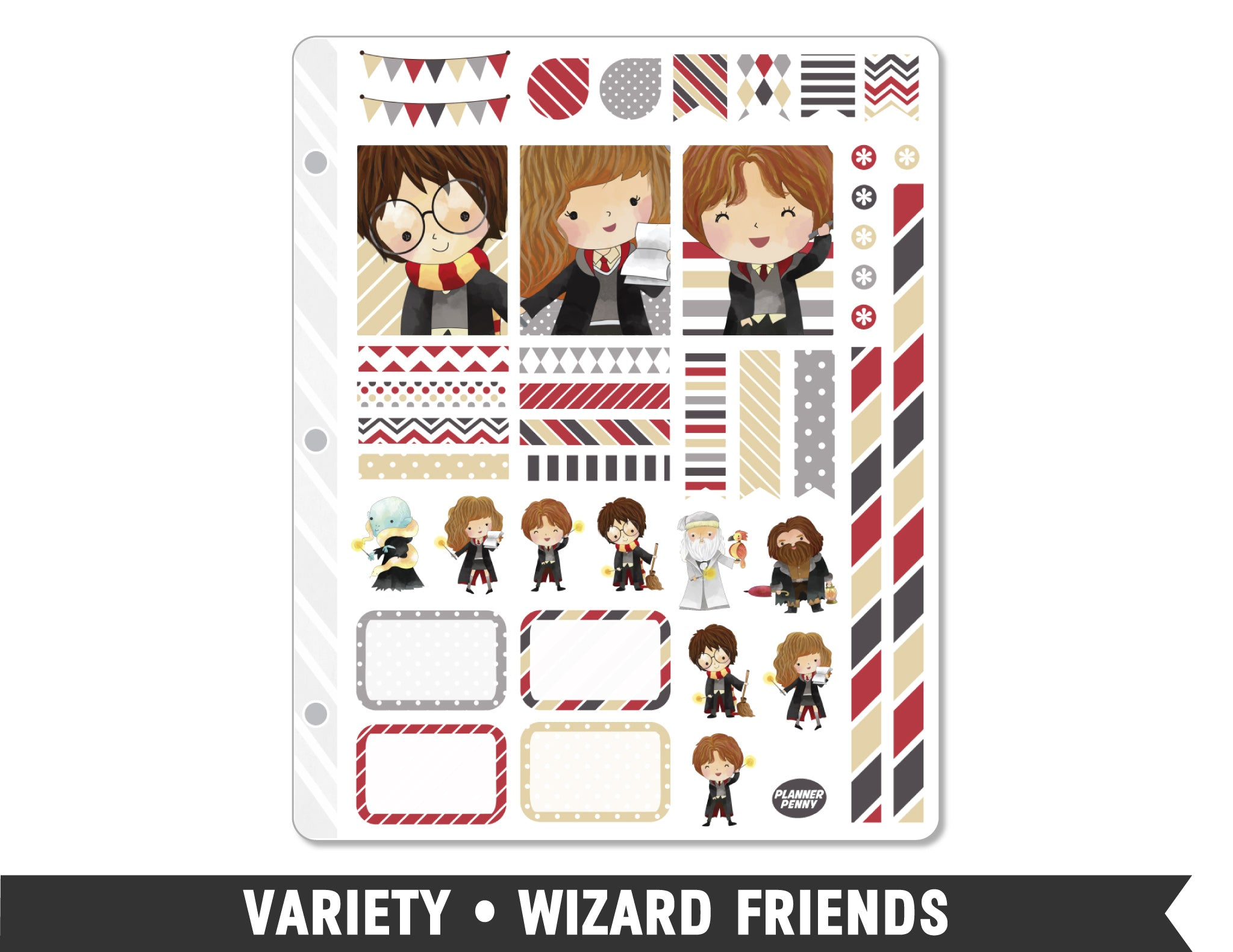 Variety • Wizard Friends Weekly Spread Planner Stickers - Planner Penny