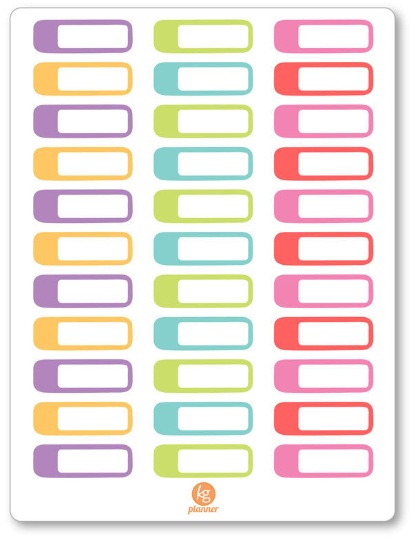 Blank Label Planner Stickers - Planner Penny