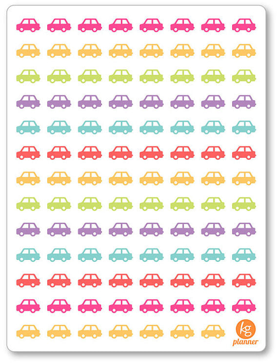 Cars PDF PRINTABLE Planner Stickers - Planner Penny