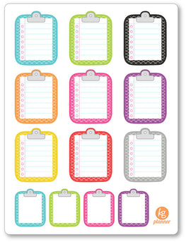 Clipboard Scale Pattern To Do List Planner Stickers - Planner Penny