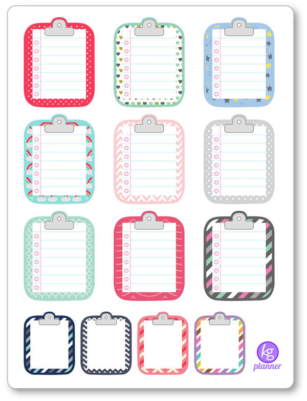 Clipboard Misc. PDF PRINTABLE Planner Stickers - Planner Penny