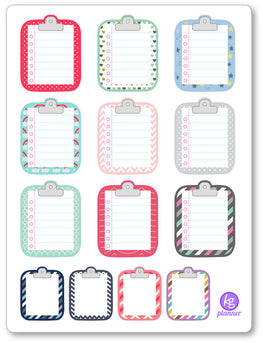 Clipboard Misc Pattern To Do List Planner Stickers - Planner Penny