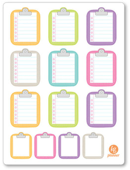 Clipboard Striped To Do List Planner Stickers - Planner Penny