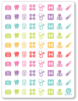 Doctor Assortment PDF PRINTABLE Planner Stickers - Planner Penny
