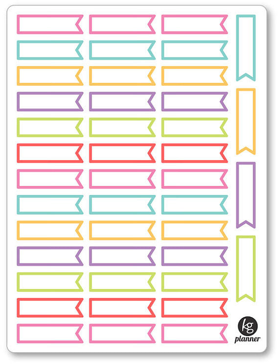 Event Flags PDF PRINTABLE Planner Stickers - Planner Penny