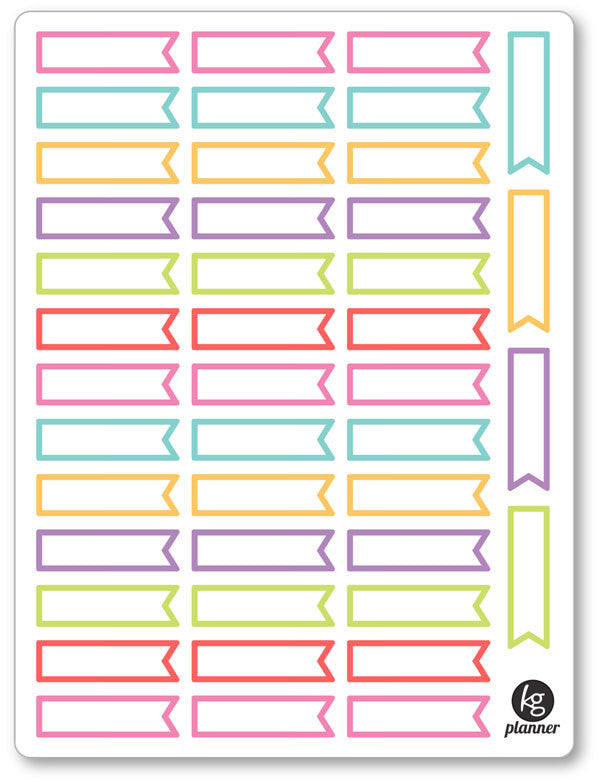 Event Flags Planner Stickers - Planner Penny