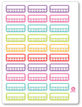 Weekly Habit Checklist Planner Stickers - Planner Penny