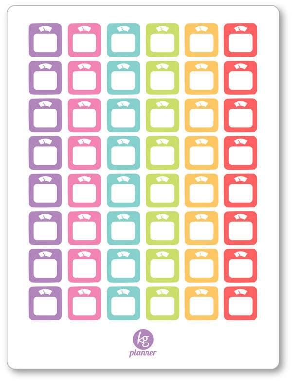 Scales PDF PRINTABLE Planner Stickers