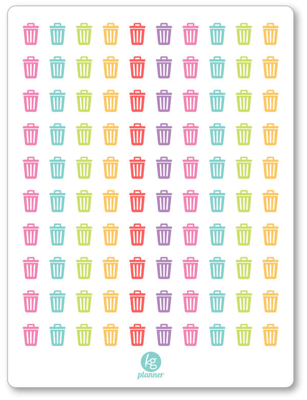 Trash PDF PRINTABLE Planner Stickers