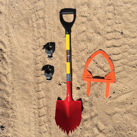 "KB Shovel with KBT 1 5/8"" Stand Off Mount and Guard"