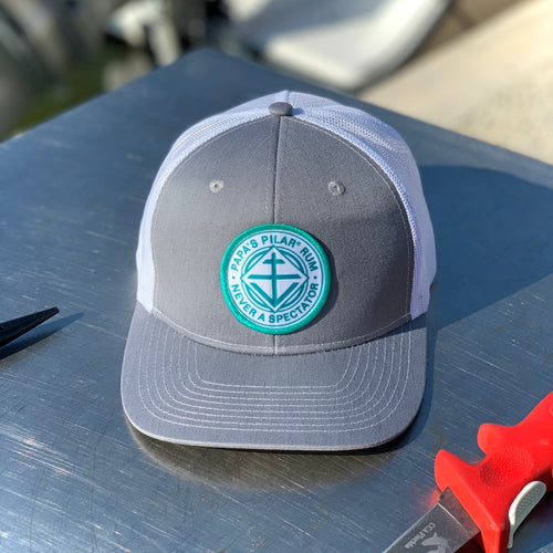 Grey PPR Crest Fishing Hat