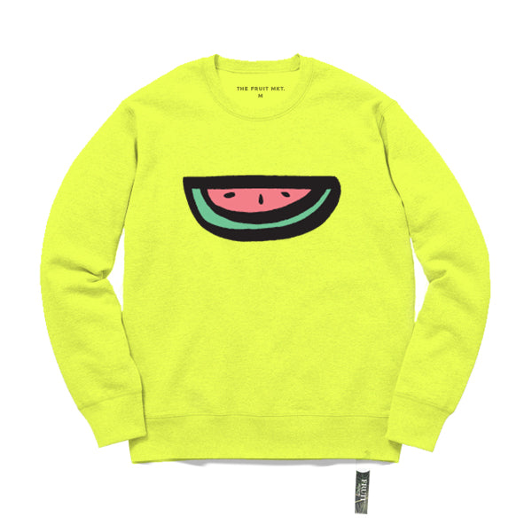 Logo crew sweat (Neon Yellow)
