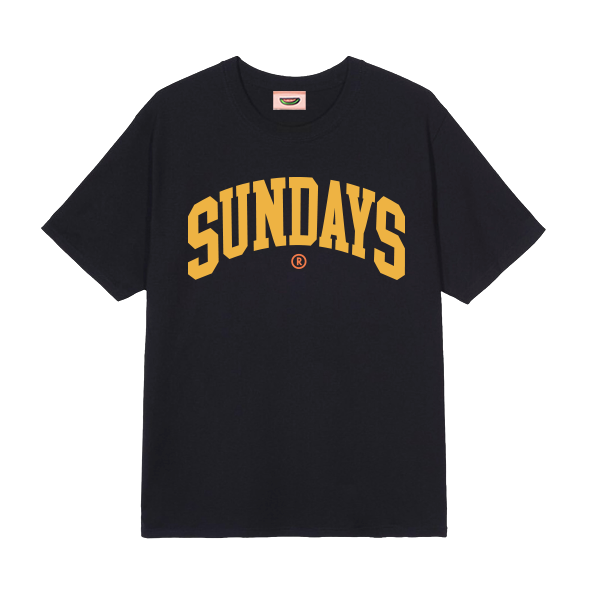 SUNDAYS TEE (BLACK)