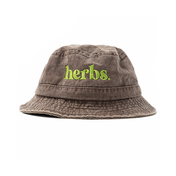 Herbs Bucket Hat - Chocolate