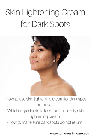 lady with dark spots