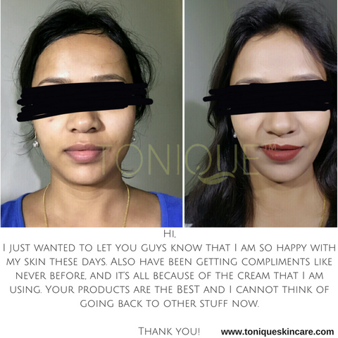 tonique customer before and after pic