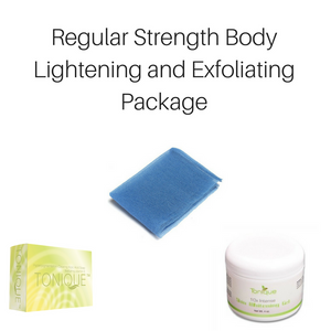 Regular Strength Body Whitening & Exfoliating Package