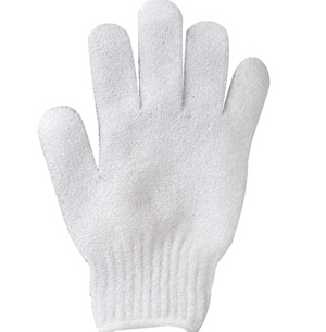 nylon exfoliating glove