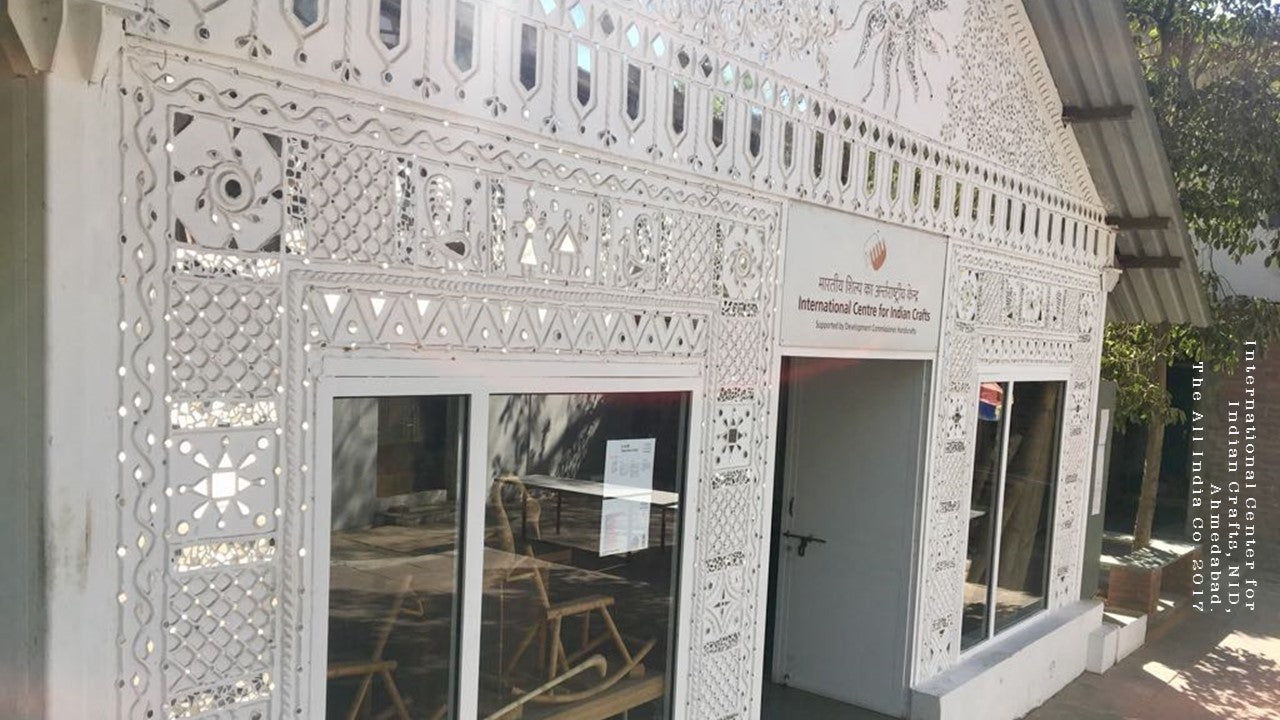 International Center of Crafts with mud and mirror work from Gujarat
