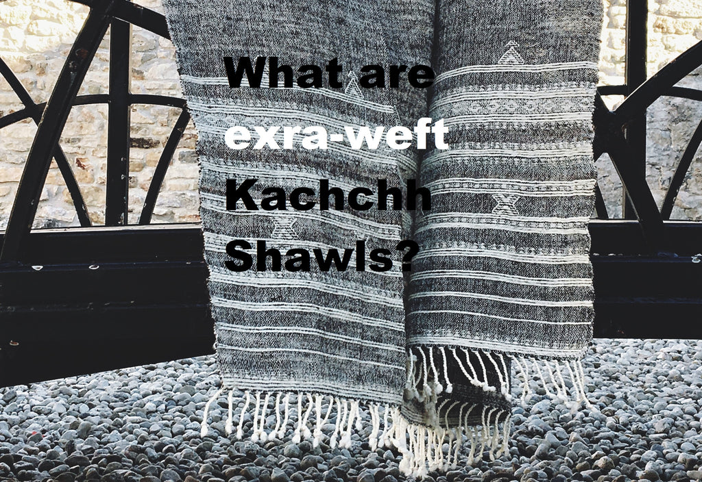What are extra weft Kachchh Shawls