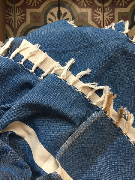 The Land Healer Recycled Cotton Towel- Blue