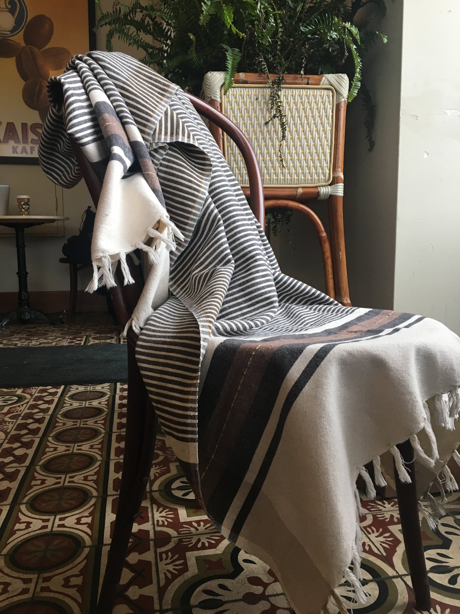 The Land Healer Recycled Cotton Towel - Stripes