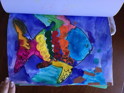 Colorful Painted Fish Pre-K Art 4everBound.com