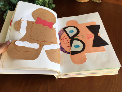 4everBound Custom Bound Book with Gingerbread Cookie Cutout and Funny Guy with Bowtie