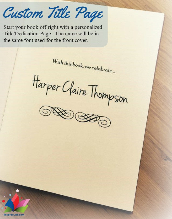 Personalized Title Page for 4everBound custom hardcover books