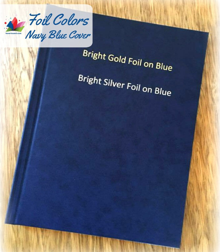 4everBound foil colors available for navy blue cover