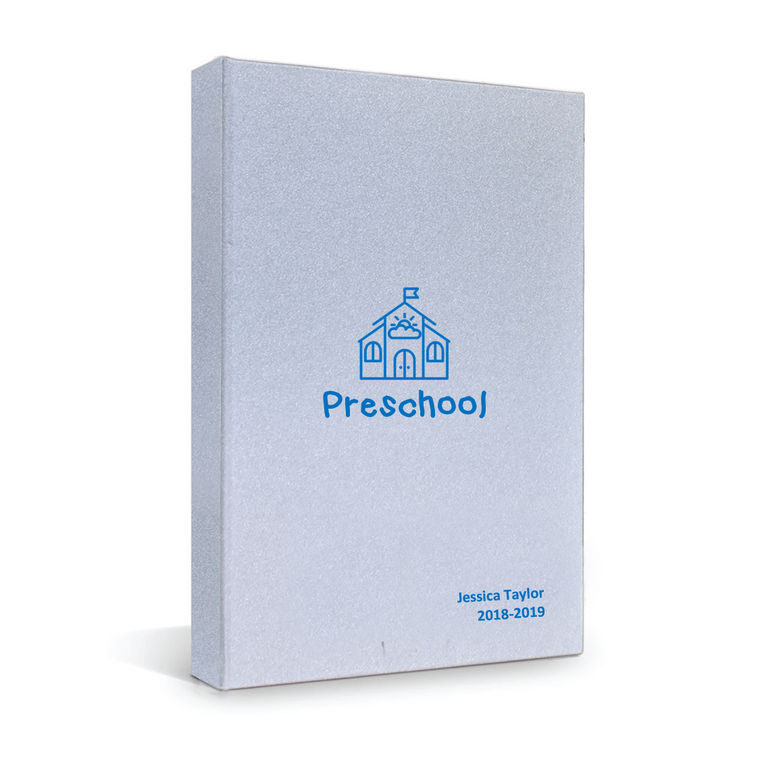 4everbound Preschool Blue on Silver