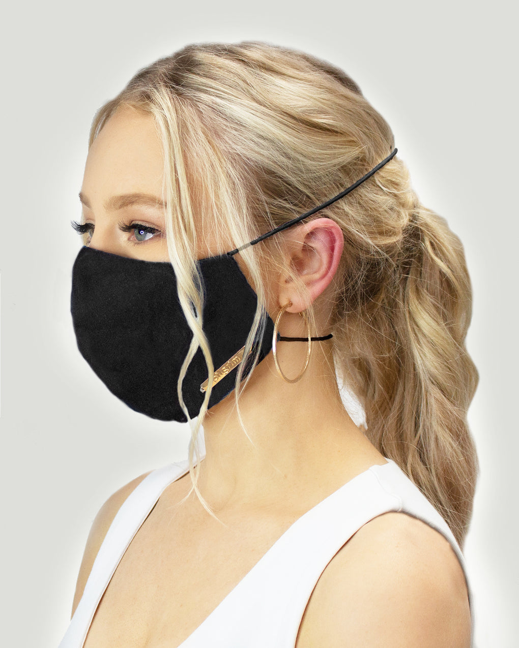 Black Double Strap Face Mask