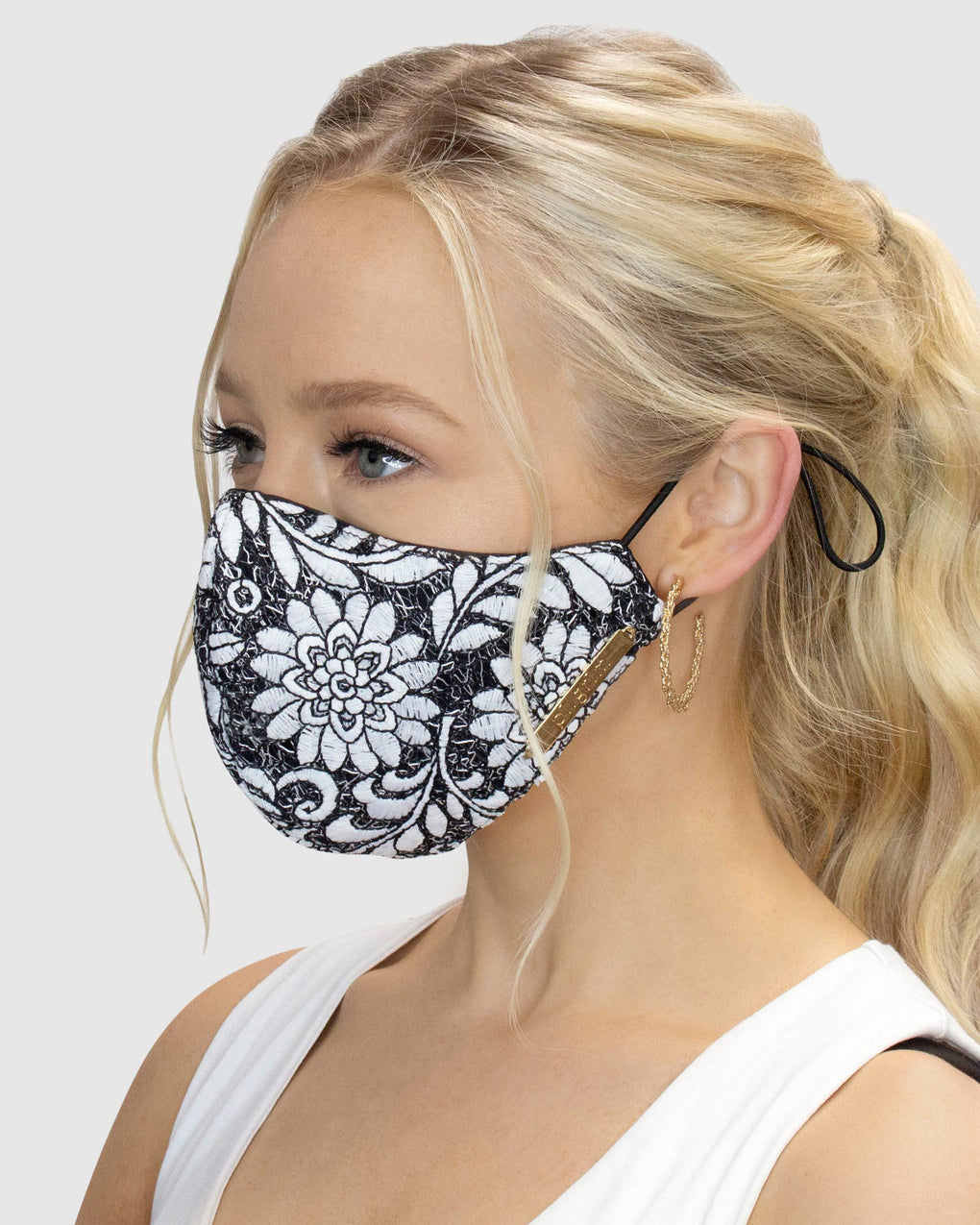 Floral Lace Face Mask