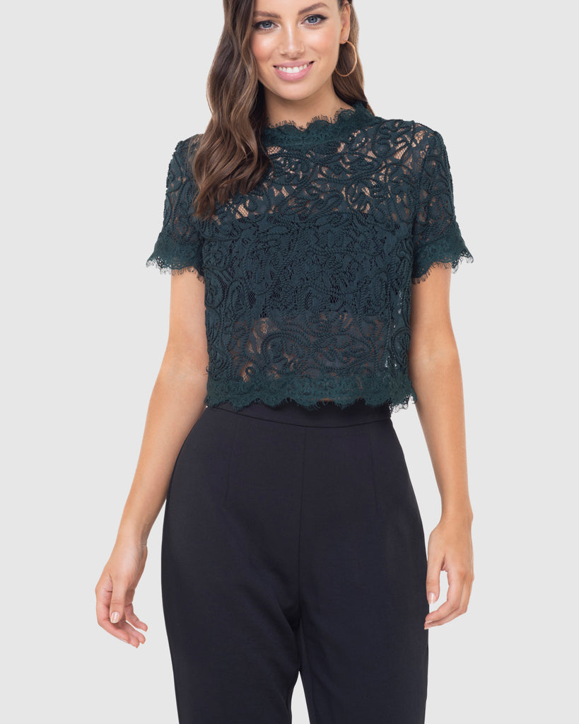 Onyx Lace Top