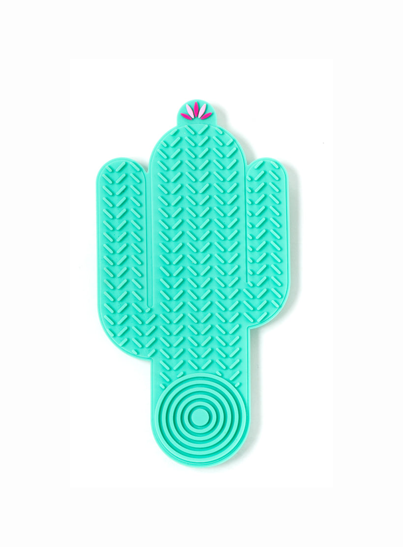 Cactus Shape Brush Cleaner in Green