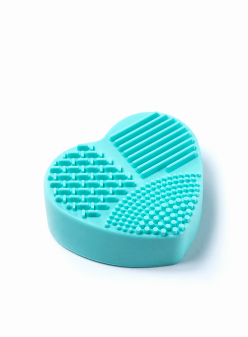 Brush Cleaner (Wet and Dry in one) Heart Shape in Mint