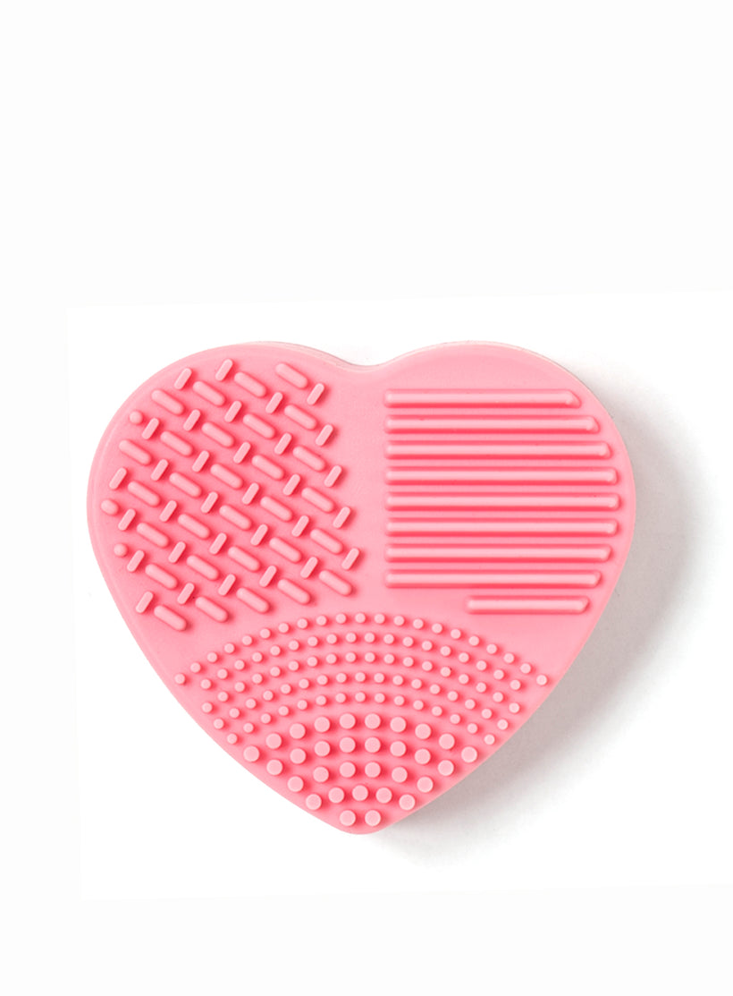 Brush Cleaner (Wet and Dry in one) Heart Shape in Rose
