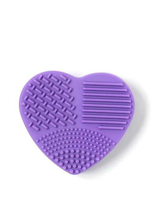 Brush Cleaner (Wet and Dry in one) Heart Shape in Purple