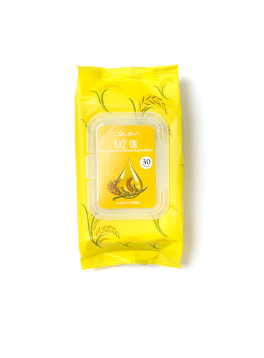 Deep Cleansing Oil Makeup Removing Towelettes- Rice Oil
