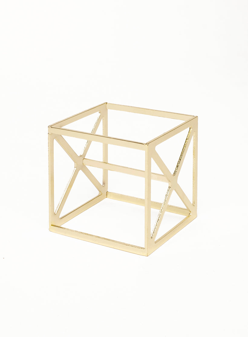 Sponge Cube Holder in Gold
