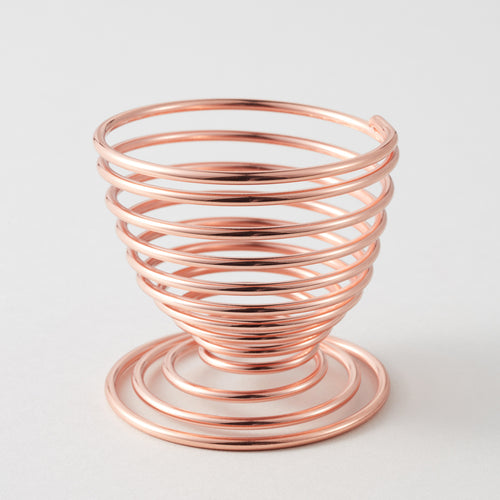 Circle Spiral Makeup Sponge Holder in Rose Gold