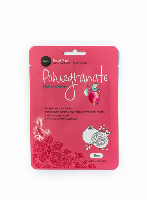 Essence Facial Mask Paper Sheet Moisturizing Skin Care- Pomegranate