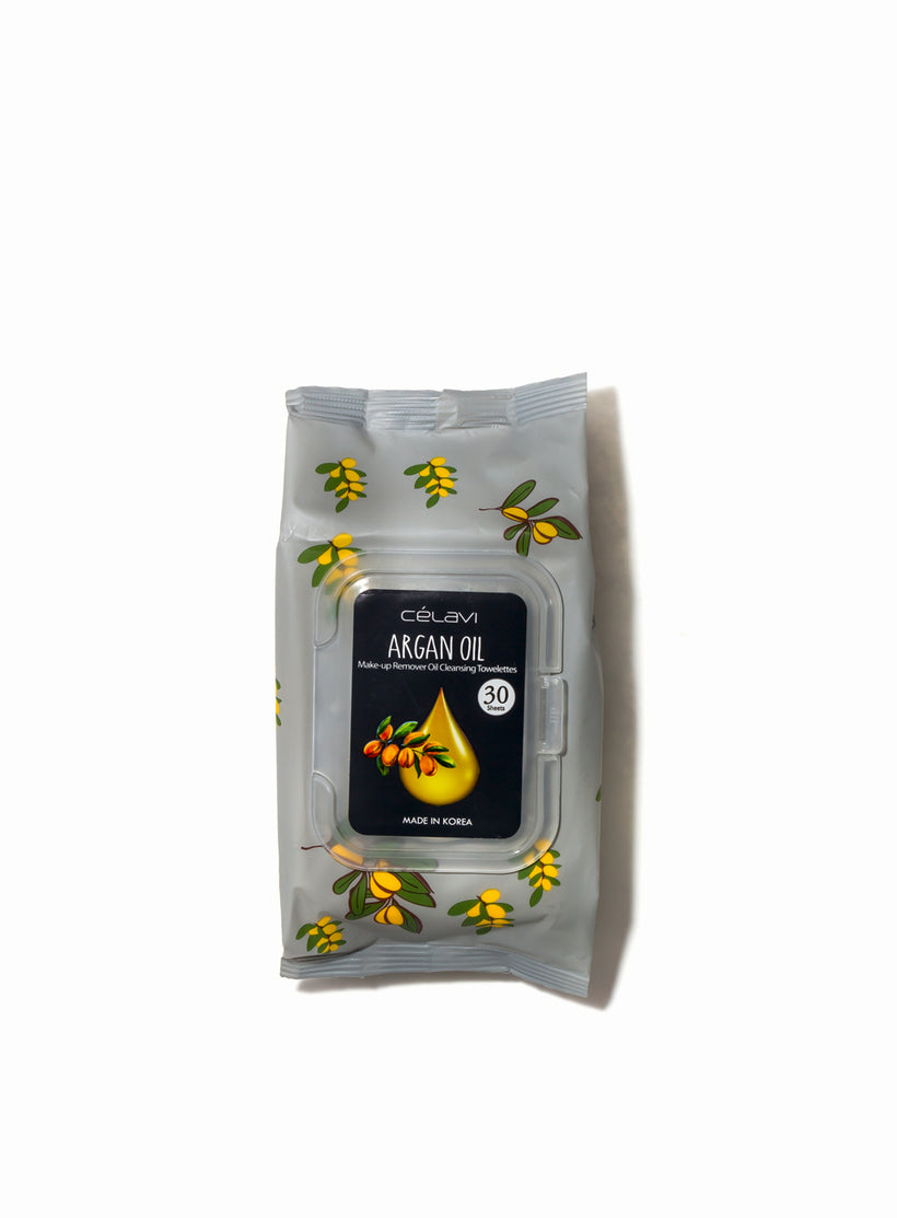 Deep Cleansing Oil Makeup Removing Towelettes- Argan Oil