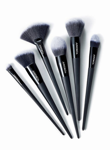 Foundation Brush, Blush Brush, Fan Brush, Contour Brush, Powder Brush and Blending Eye Brush