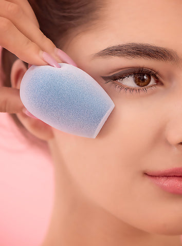 Microfiber Fusion Sponge with girl's face
